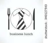 logo  icon business lunch.... | Shutterstock .eps vector #340127543