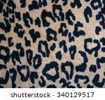 leopard skin background   soft... | Shutterstock . vector #340129517