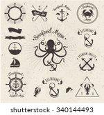 restaurant seafood design | Shutterstock .eps vector #340144493