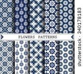 flower vector pattern pattern...   Shutterstock .eps vector #340178183