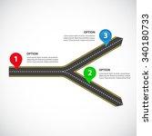 1 to 2 horizontal diverging... | Shutterstock .eps vector #340180733