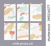 set  of printable journal cards ...   Shutterstock .eps vector #340216277