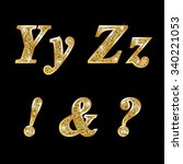golden metallic shiny letters y ...   Shutterstock . vector #340221053