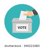 voting concept icon in flat...