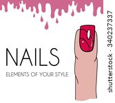 colorful nails elements for...
