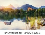 lake strbske pleso in high... | Shutterstock . vector #340241213