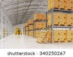warehouse logistics  packages... | Shutterstock . vector #340250267
