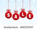 sale. christmas balls | Shutterstock .eps vector #340252547