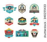 Monster Truck Emblems Set With...