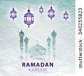 traditional lantern of ramadan  ... | Shutterstock . vector #340255823