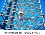 climber on the self support... | Shutterstock . vector #340257473