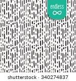 handmade seamless texture  ... | Shutterstock .eps vector #340274837