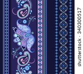striped seamless ethnic pattern.... | Shutterstock . vector #340300517