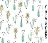 forest moss seamless pattern on ... | Shutterstock .eps vector #340301393