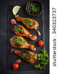 Roasted Chicken Legs With...