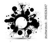 black and white vector ink... | Shutterstock .eps vector #340326347