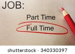 full time circled in red  with... | Shutterstock . vector #340330397