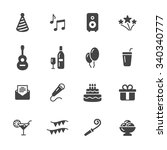 party icons | Shutterstock .eps vector #340340777