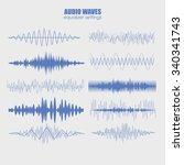 set audio equalizer technology  ... | Shutterstock .eps vector #340341743