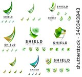 set of company logotype... | Shutterstock .eps vector #340343843