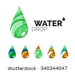 Set Of Abstract Eco Water Icon...