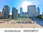 Stock photo toronto canada october view of toronto skyline and nathan phillips square in toronto 340358927