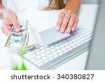 closeup image of a woman hands... | Shutterstock . vector #340380827
