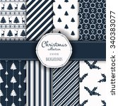 collection of seamless patterns.... | Shutterstock .eps vector #340383077