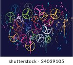 scribble peace graphic | Shutterstock .eps vector #34039105