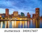 view of inner harbor area in... | Shutterstock . vector #340417607
