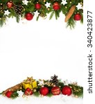 christmas decoration  four... | Shutterstock . vector #340423877