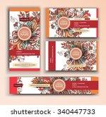 corporate identity vector... | Shutterstock .eps vector #340447733