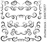 vintage decorative curls and... | Shutterstock .eps vector #340473077