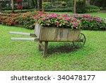 Idyllic Flower Garden With Old...
