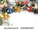 christmas background isolated... | Shutterstock . vector #340483487