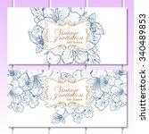 vintage delicate invitation...   Shutterstock .eps vector #340489853
