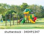 children playground park in the ... | Shutterstock . vector #340491347