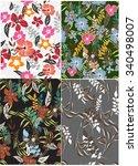 seamless flower background  ... | Shutterstock .eps vector #340498007