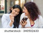 closeup portrait two surprised... | Shutterstock . vector #340502633