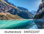 lake louise sunburst in banff... | Shutterstock . vector #340522247