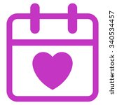 love day vector icon. style is... | Shutterstock .eps vector #340534457