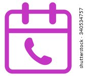 phone support date vector icon. ... | Shutterstock .eps vector #340534757