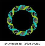 dna  genetic icon   circle... | Shutterstock .eps vector #340539287