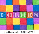 colors quote background written ... | Shutterstock . vector #340551917