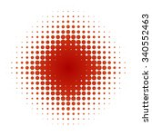 star of small and big red dots... | Shutterstock . vector #340552463