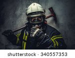 rescue firefighter in safe... | Shutterstock . vector #340557353