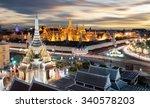 wat pra kaew at twilight ... | Shutterstock . vector #340578203