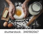 professional female baker... | Shutterstock . vector #340582067