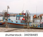 A Couple Of Fishing Boats In...