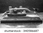 Old Morse Key Telegraph On Woo...